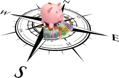 Kaskompas briefgeld varken